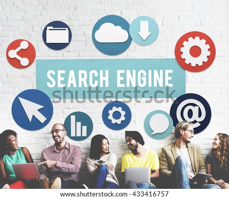 Seo Search Engine Optimization Searching Concept - stock photo