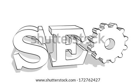 seo text - stock photo