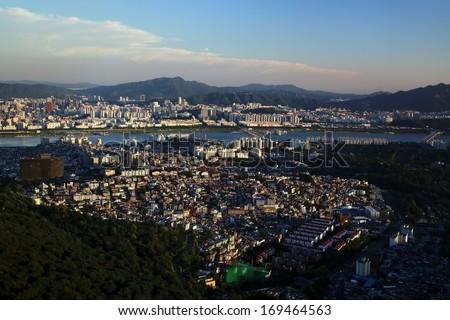 seoul - stock photo