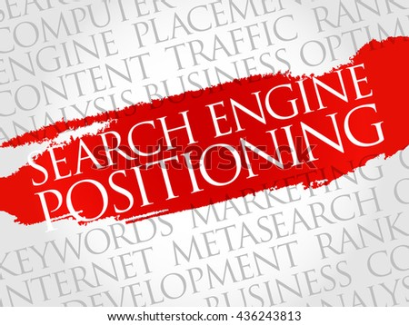 SEP - search engine positioning word cloud, business concept - stock photo