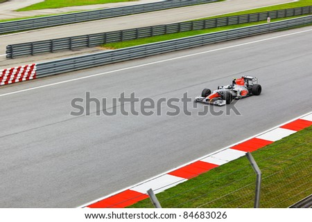 SEPANG, MALAYSIA - APRIL 8: Vitantonio Liuzzi (team Hispania Racing) at first practice on Formula 1 GP, April 8 2011, Sepang, Malaysia - stock photo