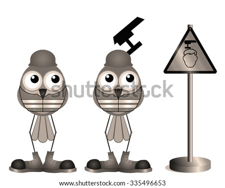 Sepia construction workers with head warning sign - stock photo