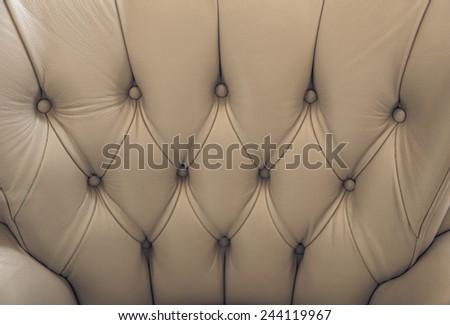Sepia english genuine leather upholstery, background - stock photo