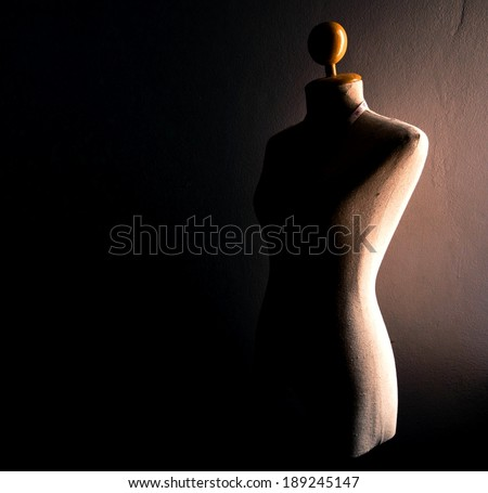 Sepia of Clothing mannequin - stock photo