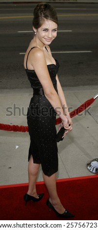 """September 6, 2006. Willa Holland attends the Los Angeles Premiere of """"The Black Dahlia"""" held at the Academy of Motion Picture Arts and Sciences in Beverly Hills, California United States. - stock photo"""