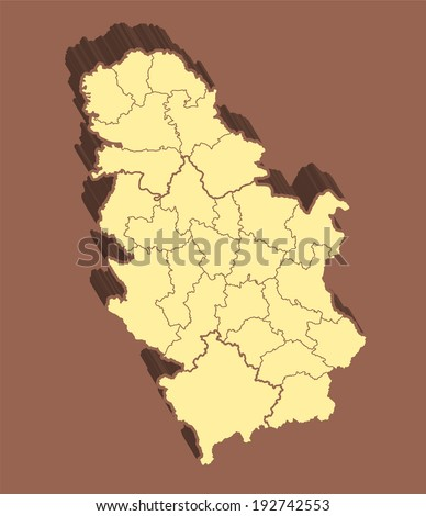 Serbia Map  - stock photo