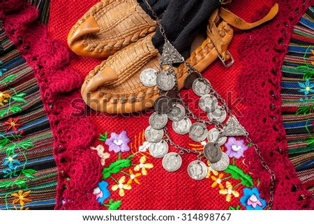 Serbian costumes - stock photo