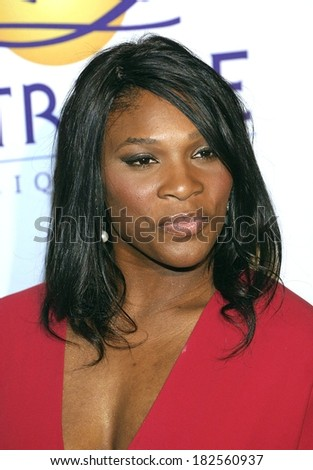 Serena Williams at Clive Davis Pre-Grammy Party, Beverly Hilton Hotel, Los Angeles, CA, February 09, 2008 - stock photo