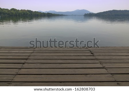 Serene lakes wood - stock photo