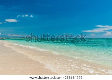 Serene tropical beach of Gili Trawangan, Indonesia - stock photo