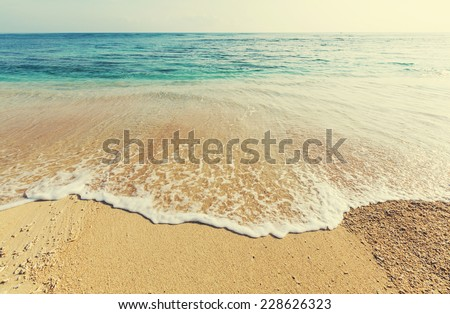 Serenity beach - stock photo