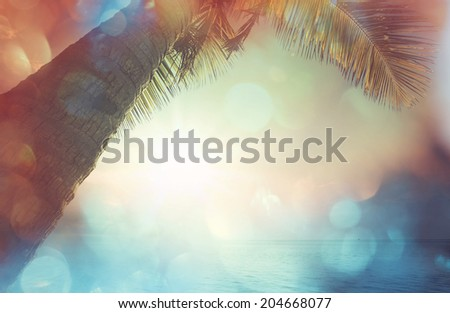 Serenity beach background - stock photo
