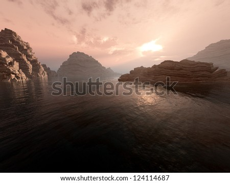 Serenity Landscape - stock photo