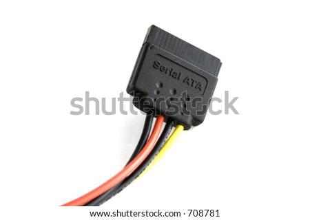 Serial ata power cord - stock photo