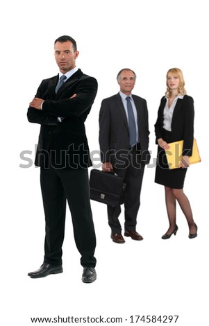 Serious business people - stock photo