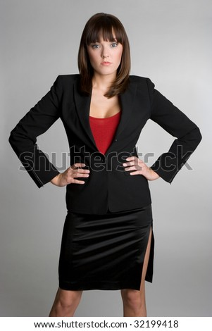 Serious Business Person - stock photo