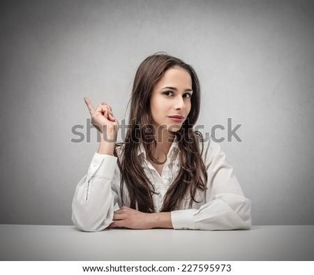 Serious businesswoman  - stock photo