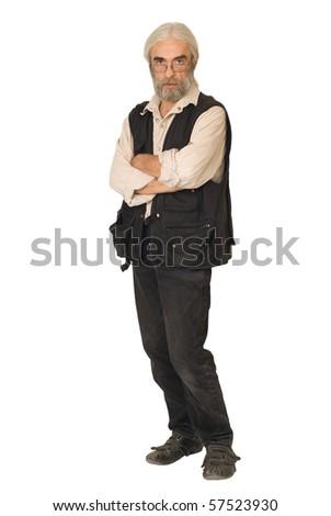 Serious man - stock photo