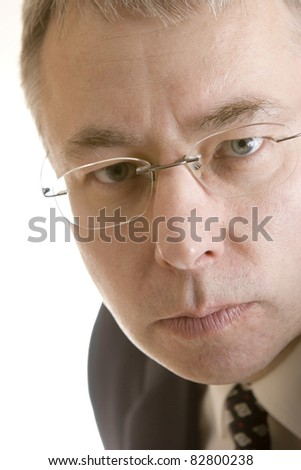 Serious man portrait - stock photo