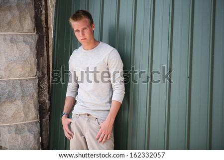 Serious Teenager - stock photo