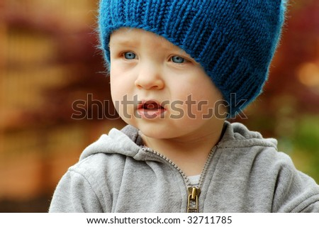 Serious Toddler - stock photo