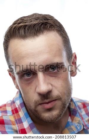 serious young man - stock photo