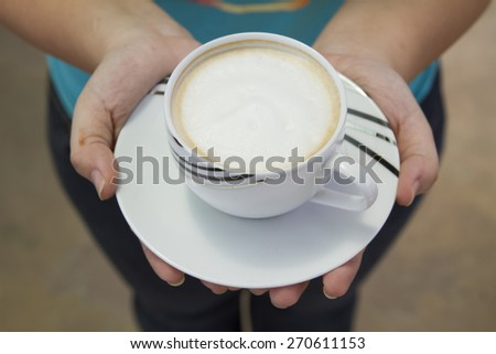 Served and hot accompanied fresh brewed coffee. - stock photo