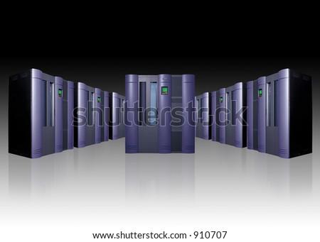 Server array - stock photo