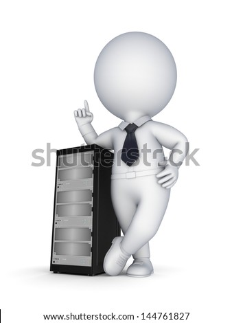 Server concept.isolated on white.3d rendered. - stock photo