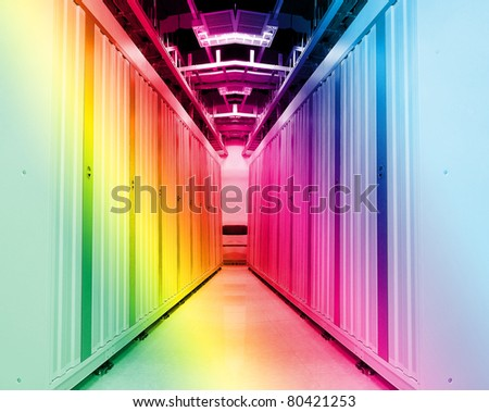 servers in a data center - stock photo