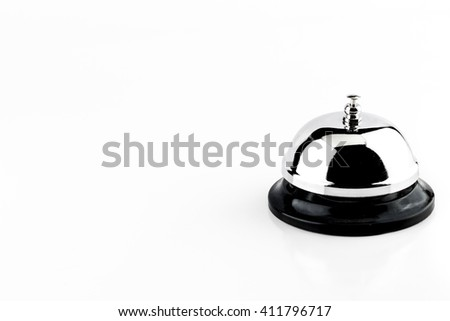 service bell composition for text - stock photo