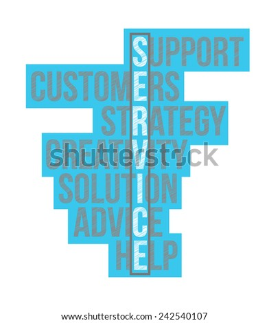 service business word selection illustration design over a white background - stock photo