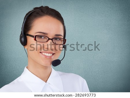 Service, Customer Service Representative, Women. - stock photo