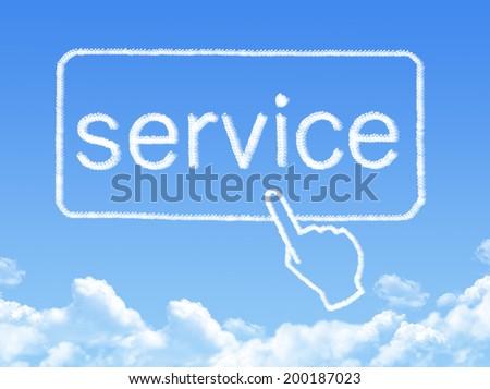 Service message cloud shape - stock photo