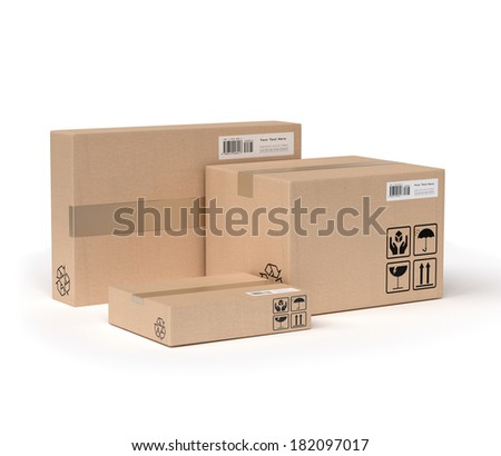 service of packages - stock photo