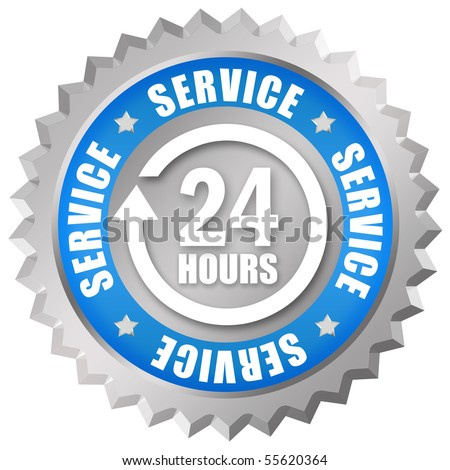 Service 24 sign - stock photo