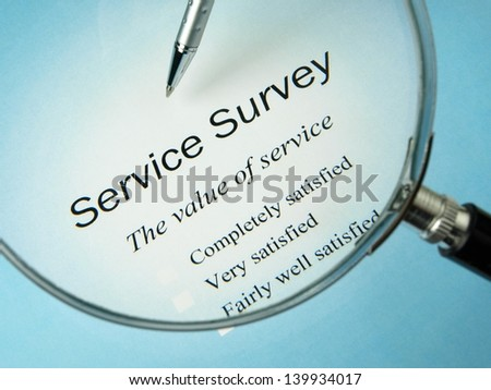 Service Survey Questions - stock photo