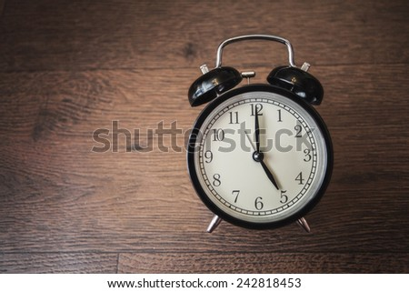 service time watch clock dial morning lesson lecture break waiting wooden background - stock photo