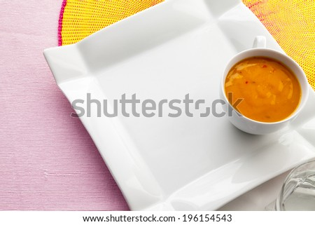 Serving with curry sauce - stock photo