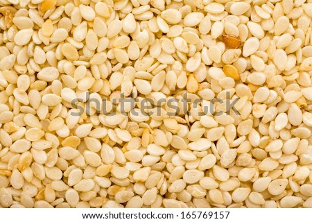 Sesame Seeds Closeup Details Background - stock photo
