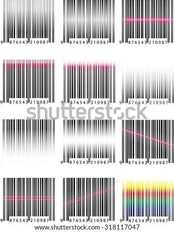 Set barcode - stock photo