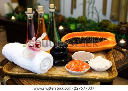 Set for massage - stock photo