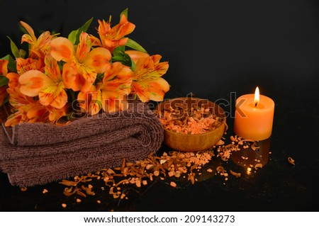 Set for orange spa - stock photo