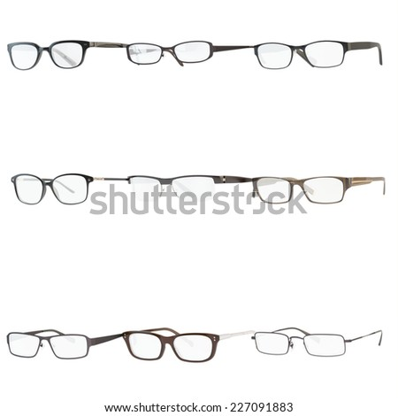 Set of a glasses , isolated , white background - stock photo