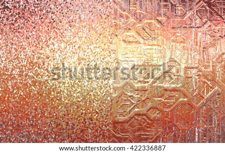 Set of abstract backgrounds gold - stock photo