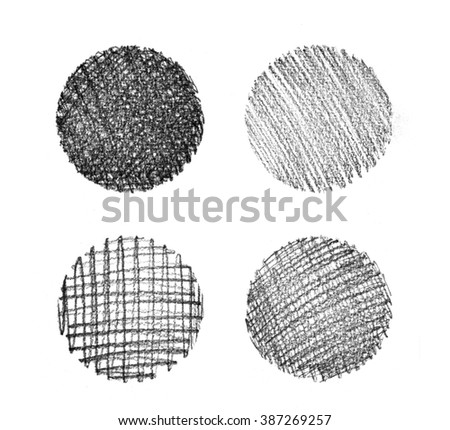 Set of abstract hand drawn grunge textures. - stock photo