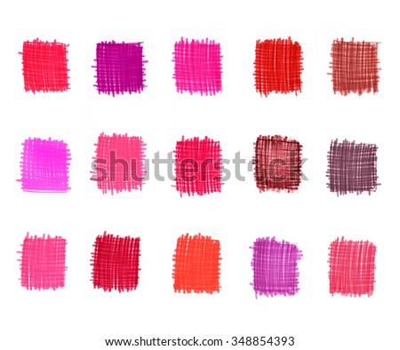Set of abstract pink graduation elements for design  - stock photo