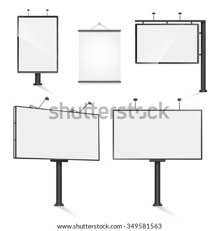 set of advertising outdoor design template. JPG version - stock photo