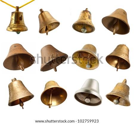 Set of bells isolated on white background - stock photo