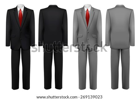 Set of black and grey suits.  - stock photo